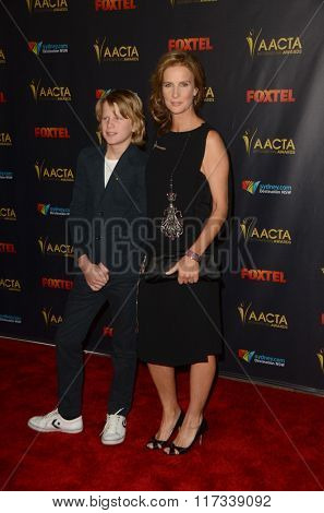 LOS ANGELES - JAN 29:  Rachel Griffiths, Banjo Taylor at the 2016 AACTA International Awards at the PETA's Bob Barker Building on January 29, 2016 in Los Angeles, CA