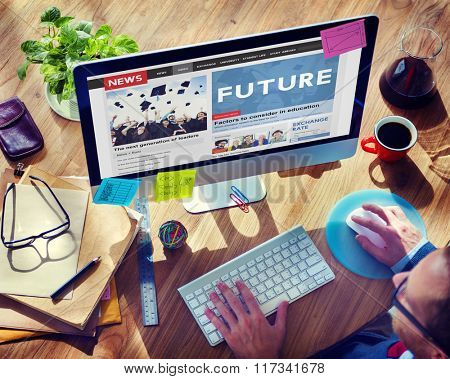 Future Futuristic Forecast imagine Time Vision Plan Concept