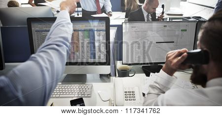Business Team Working Accounting Correspondence Concept