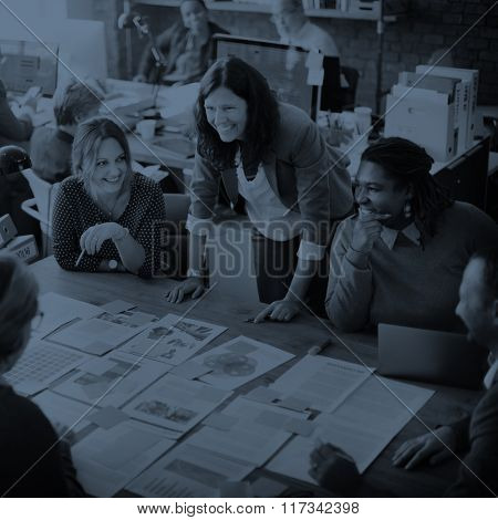 Business People Meeting Conference Discussion Working Concept