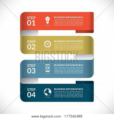 Modern infographic vector design template
