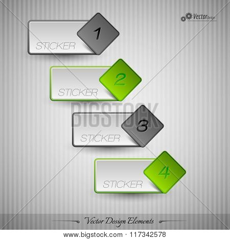 Business Stickers On The Gray Background For Infographics Webdesigns Ets