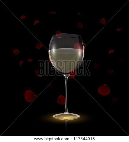 petals and white wine