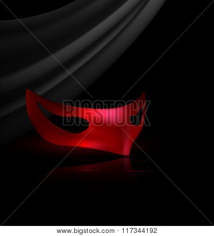 red half mask