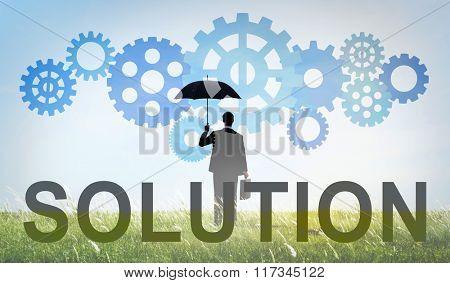 Solution Solving Business Result Progress Concept