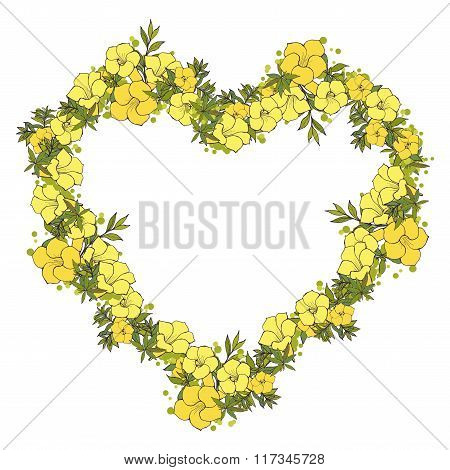 Floral wreath made of exotic flowers
