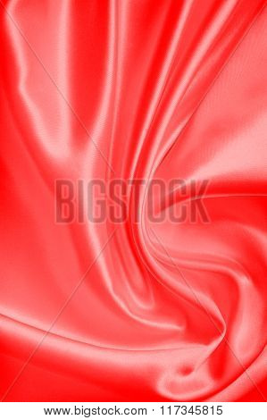 Smooth Elegant Red Silk Or Satin As Valentines Day Background