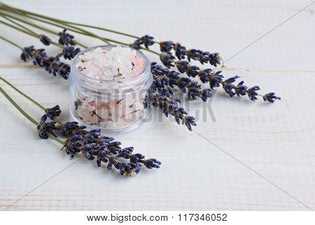 Lavender herbal salt scrub