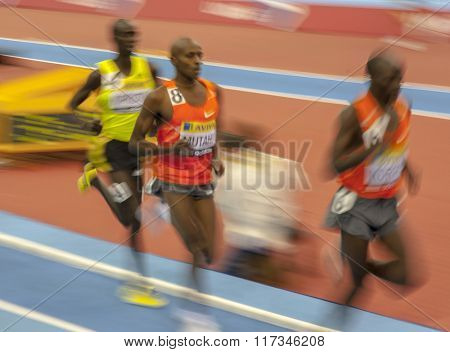 BIRMINGHAM, ENGLAND. 20-February-2010. The Aviva indoor athletics meeting held in the National Indoor Arena.
