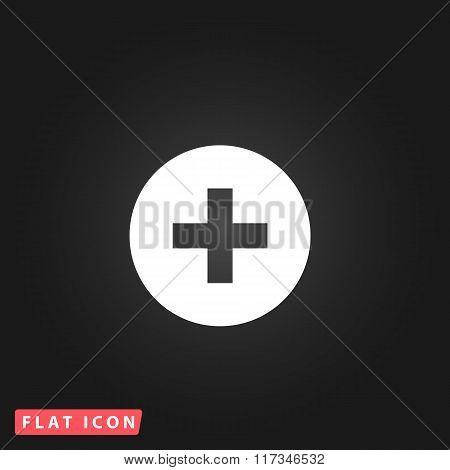 Medical cross flat icon