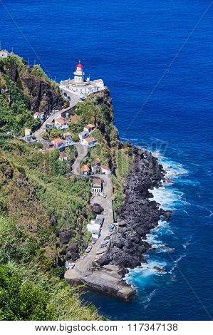 Lighthouse On Azores Island Sao Miguel