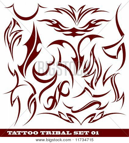 set of tribal tattoo