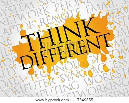 Think Different Word Cloud