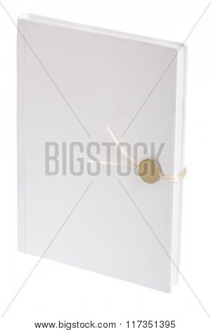 closed blank book isolated on white background