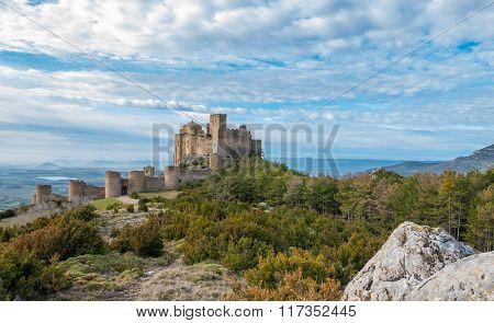 Medieval castle of Loarre in Huesca, Spain