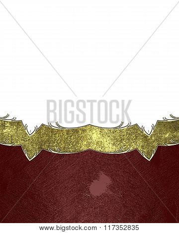 Grunge Background With A Gold Ornament. Element For Design. Template For Design. Copy Space For Ad B