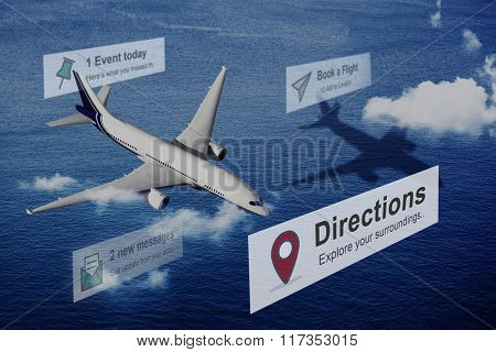 Direction Sign Forward Movement Perspective Way Concept