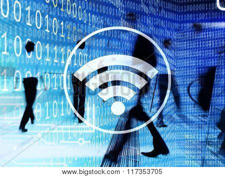 Wifi Hotspot Internet Network Signal Wireless Digital Concept