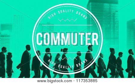 Commuter Traveler Pedestrian Passenger Concept