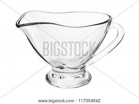 Empty Glass Gravy Boat