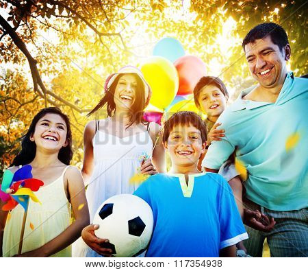 Family Parents Children Togetherness Holiday Concept