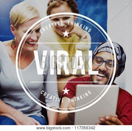 Viral Cyber Online Share Social Media Technology Concept