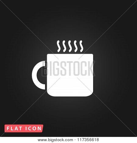 Tea cup flat icon
