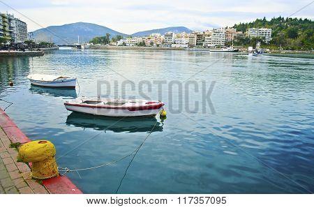 landscape of Chalcis Euboea Greece