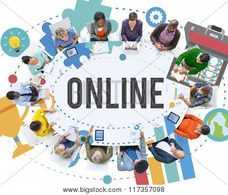 Online Network Connecting Community Internet Concept