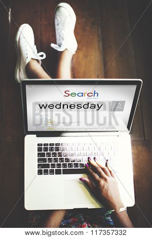 Wednesday Day Dates Date Week Weekday Agenda Concept