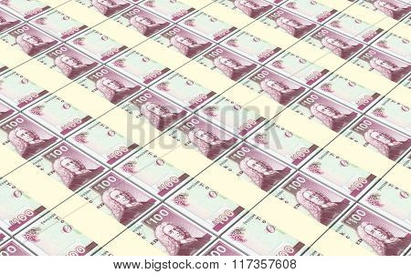 Scotland pound bills stacks background. Computer generated 3D photo rendering