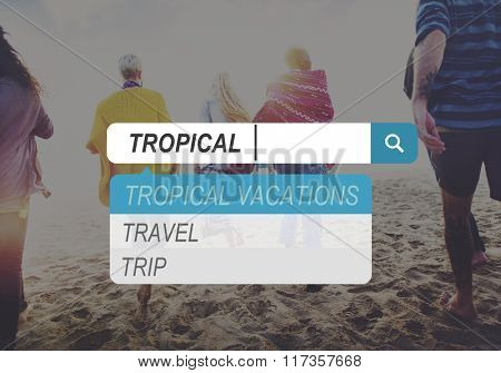 Tropical Beach Summer Sand Sea Vacation Coastline Concept