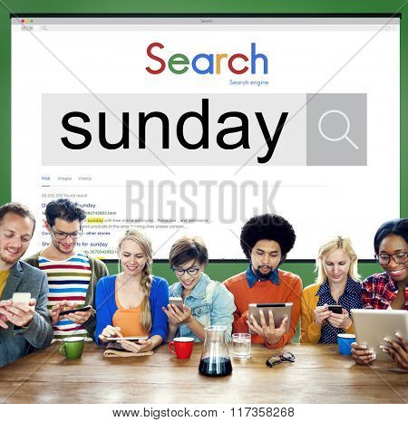 Sunday Holiday Vacation Weekend Break Concept