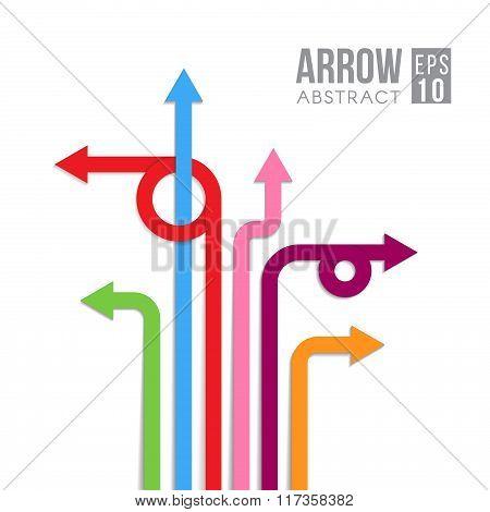 Arrow Direct Signs Abstract Vector Eps Design