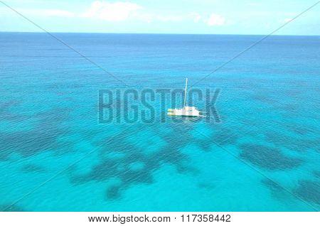 Azure water of the Atlantic Ocean. The coastal zone of the Caspian Sea.
