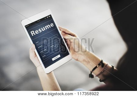 Resume Profile Personal Job Career Recruitment Concept