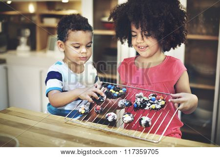 Activity Brother Sister Child Sibling Learning Kids Concept