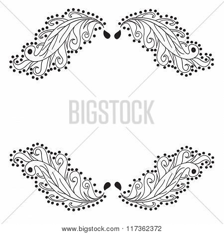 Vignettes on white background