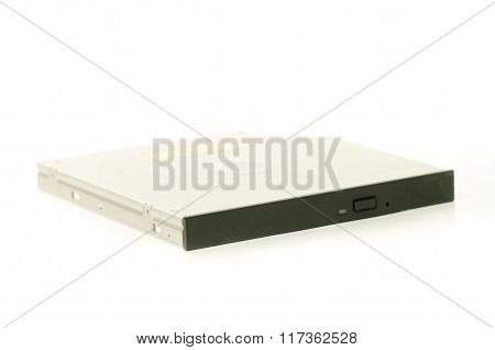 Dvd-rom Drive Laptop Hardware Part Component Isolated On White