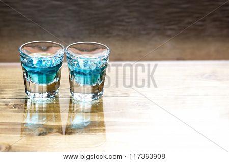 Sweet Alcoholic Blue Liqueur