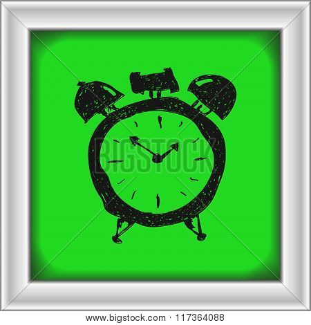 Simple Doodle Of An Alarm Clock