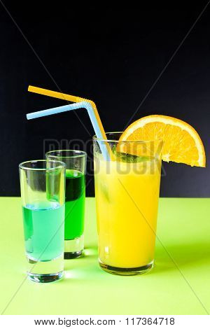Tasty Coctails On The Table