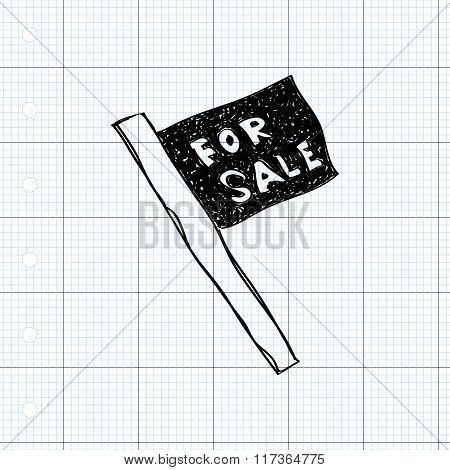 Simple Doodle Of A For Sale Sign