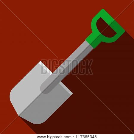 Icon Of Toy Shovel In Flat Design