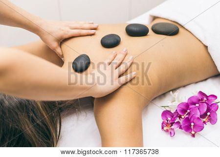 Woman Making Massages In A Beauty Saloon