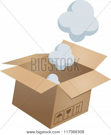 Flying object in carton box-01