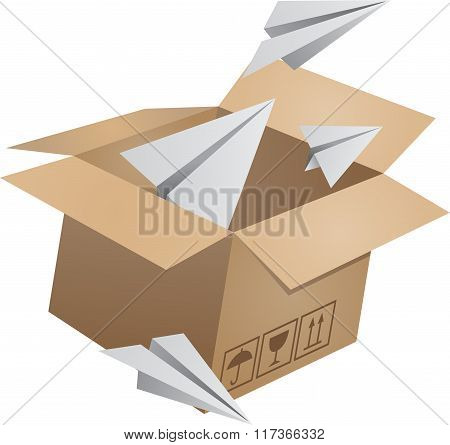 Flying object in carton box-02
