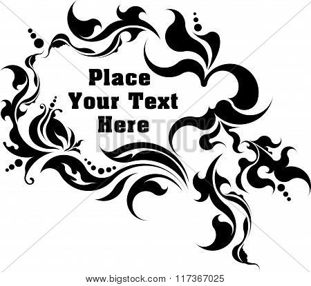 Unusual Vintage Floral Frame For Your Text. Vector Illustration.