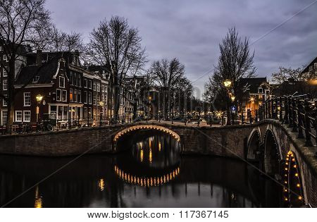 Beautiful canals in Netherlands