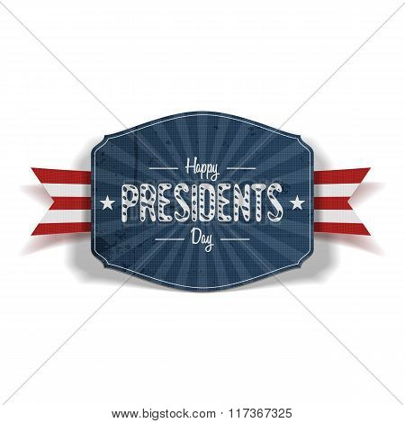 Happy Presidents Day blue striped Label